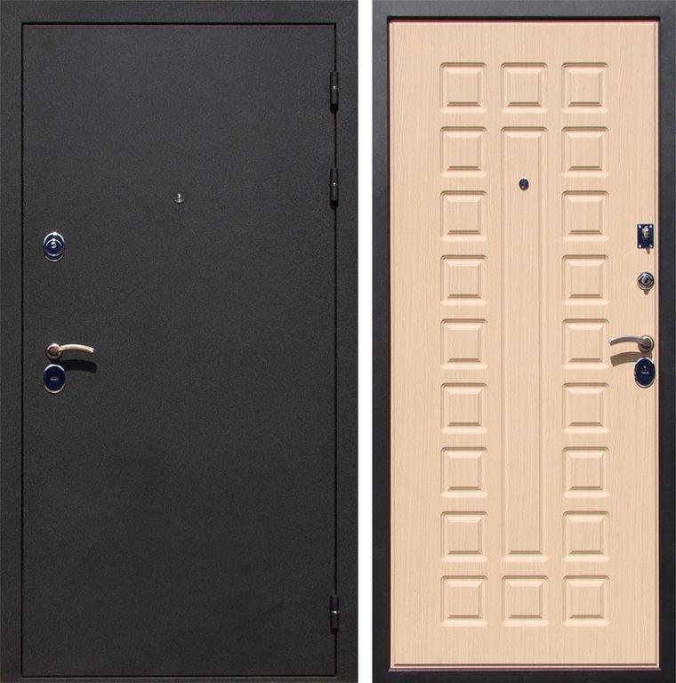 железная дверь покрыта мдф венге