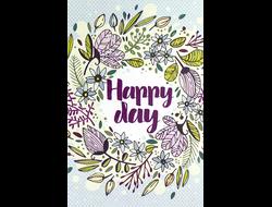 Открытка HAPPY DAY