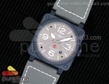 BR 03-92 PVD Military Type Gray Dial on Green Nylon Strap