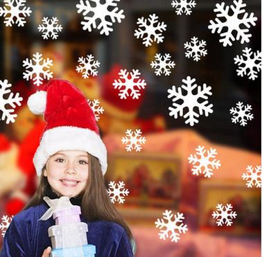 Наклейки 'Белые снежинки'