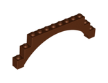 Brick, Arch 1 x 12 x 3 Raised Arch with 5 Cross Supports, Reddish Brown (18838 / 6096379)