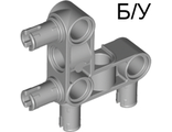 ! Б/У - Technic, Pin Connector Perpendicular 3 x 3 Bent with 4 Pins, Light Bluish Gray (55615 / 4296059) - Б/У