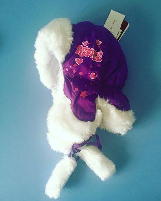 Теплая зимняя шапка-ушанка Reike цвет Violet Hearts
