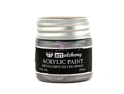ART ALCHEMY-ACRYLIC PAINT-METALLIQUE SILVER 1.7 FL.OZ (50ML)