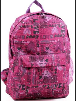 Школьный рюкзак для девочек розовый дешево