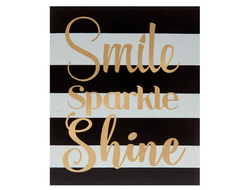 Smile, sparkle, shine