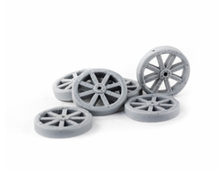 Wagon wheels (15mm) (unpainted)