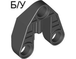 ! Б/У - Technic, Pin Connector 3 x 3 with Axle, Black (32175 / 4119333 / 4249261) - Б/У