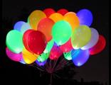 Светящиеся шары с гелием. Ассорти из 30 шаров.