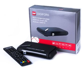 ПРИСТАВКА Android TV  DIGIFORS SMART200 СМАРТ ТВ + DVB-Т2