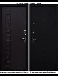 Входная металлическая дверь Юг Крит 1 Венге