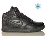 Nike Air Force с мехом унисекс черные