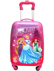 Детский чемодан на 4 колесах Принцессы Дисней / Disney Princess (Три 3 принцессы) - 3