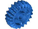 Technic, Gear 20 Tooth Double Bevel with Clutch on Both Sides, Blue (35185 / 6224999)