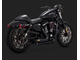 47429 Vance&Hines 40-th Anniversary SHORTSHOTS STAGGERED BLACK для HD Sportster