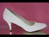 Туфли айвори свадебные маленький каблук украшены крошкой № NB070075-29=23