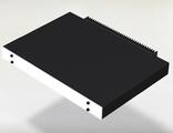 Корпус для транзисторного усилителя высотой 1U с задним радиатором