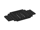 Vehicle, Base 6 x 12 x 1 with 5 x 4 Recessed Center and 8 Holes, Black (65634 / 6287679)