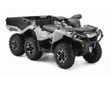 Мотовездеход Can-Am Outlander 6x6 650 DPS With Flat Bed kit Серый