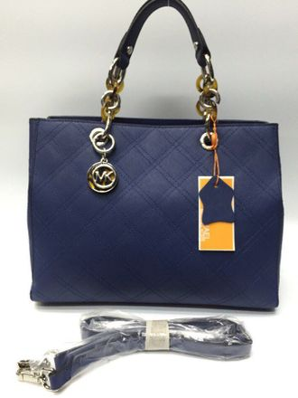 Сумка Michael Kors Cynthia Quilted Blue / Синяя