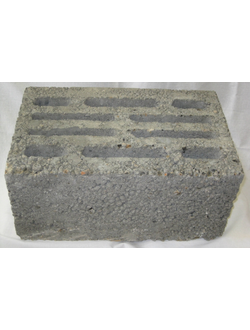 Блок керамзитобетонный стеновой десятищелевой 390х240х188 мм КСР-ПР-ПС-39-35-F50-900