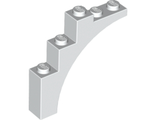 Brick, Arch 1 x 5 x 4 - Continuous Bow, White (2339 / 4187360 / 4528356 / 6056259 / 6222425)