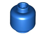 Minifig, Head (Plain) - Stud Recessed, Blue (3626c / 4586188)