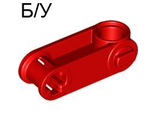 ! Б/У - Technic, Axle and Pin Connector Perpendicular 3L with Pin Hole, Red (32068 / 4114742) - Б/У