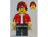 Jack Davids - Red Jacket with Backwards Cap ;Open Mouth Smile / Scared;, n/a (hs047)