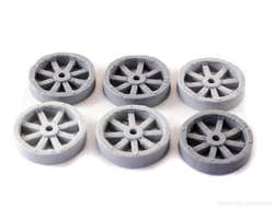 Wagon wheels (20mm) (unpainted)