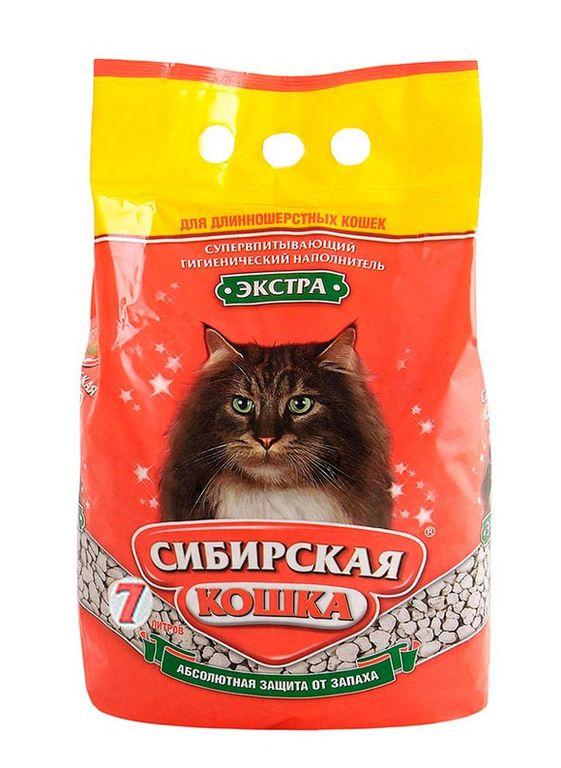 """Наполнитель для кошачьих туалетов Сибирская Кошка """"Экстра"""", для длинношерстных кошек 3л"""