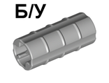 ! Б/У - Technic, Axle Connector 2L  Ridged with x Hole x Orientation , Light Bluish Gray (6538b / 4211543) - Б/У