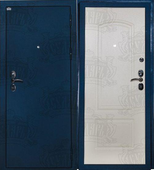 синие металлические двери