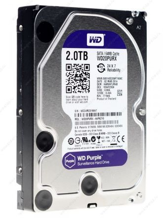 Жесткий диск WD Purple IntelliPower WD20PURX 2 Тб