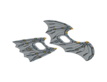 Plastic Wings with Space Batman Pattern, Sheet of 2, Opened and Collapsed Wings, Trans-Clear (20273c01 / 6104304)