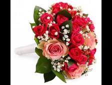 Свадебный букет из смешанных роз-СБ1