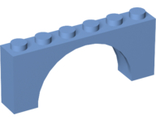 Brick, Arch 1 x 6 x 2 - Medium Thick Top without Reinforced Underside, Medium Blue (15254 / 6186139)