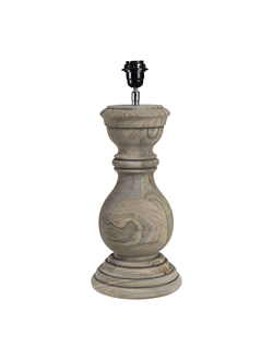Настольная лампа LAMP BASE BAROQUIE GREY D20XH40CM MANGO WOODарт.32135