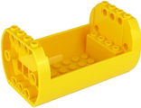 Cylinder 6 x 10 x 4 1/3 with Open Sides and Pin Holes, Yellow (49949 / 6308422)