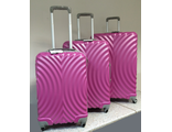 Комплект из 3-х пластиковых чемоданов Global Case Фуксия