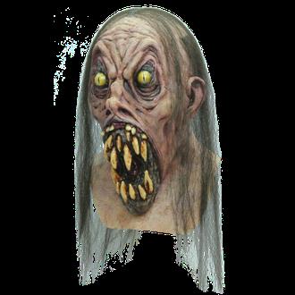 монстр, клыки, жуткая, страшная, маска, с волосами, латексная, резиновая, маски, урод, зомби