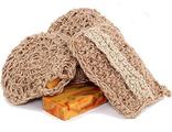 Мочалка из джутовой нити с натуральным мылом