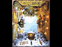 Картина (раскраска) по номерам на холсте - Времена года GX 8922