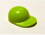 Minifigure, Headgear Cap - Short Curved Bill, Lime (4485b / 4457911 / 4567911)