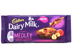 Шоколад Dairy Milk Medley Fruit Raspberry 93гр