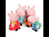 """Семья свинок,мягкая игрушка, м/ф """"Свинка Пеппа"""", 30 см"""