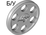 ! Б/У - Technic Wedge Belt Wheel ;Pulley;, Light Bluish Gray (4185 / 4211544 / 4494222 / 6321743) - Б/У