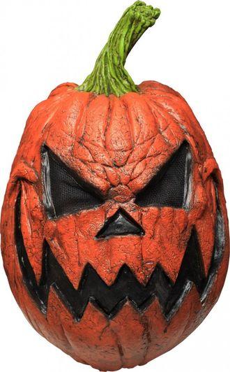 тыква, злая, маска, на голову, силикон, резина, латекс, памкин, хелоуин, halloween, тыковка, pumkin