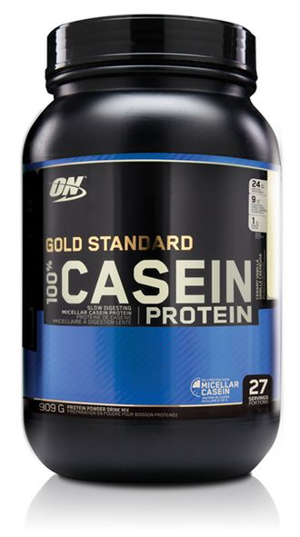 (Optimum Nutrition) 100% Casein Protein - (908 гр) - (ваниль)
