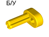 ! Б/У - Technic Engine Crankshaft, Yellow (2853 / 4119474) - Б/У